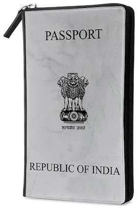 Qrioh Republic India Travel Multi Passport Holder Zipper Wallet