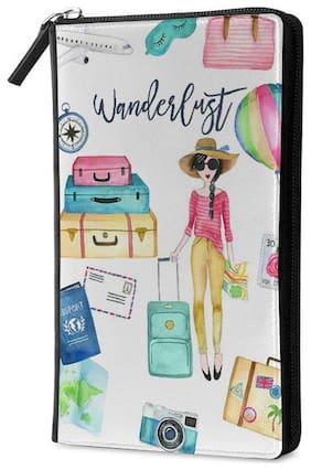 Qrioh Wanderlust Travel Multi Passport Holder Zipper Wallet