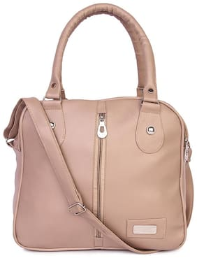 Raez Beige PU Shoulder Bag - HB-207-BEIGE