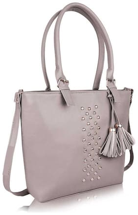 Raez Grey PU Shoulder Bag - HB-200-GREY