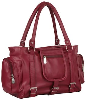 Raez Maroon PU Shoulder Bag - HB-2004-MAROON