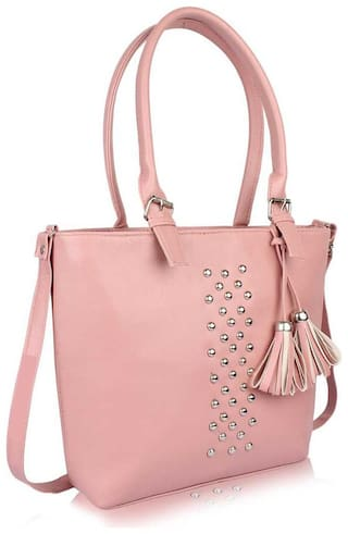 Raez Pink PU Shoulder Bag - HB-200-PINK