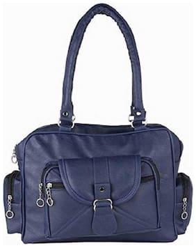 Raez Blue PU Shoulder Bag - HB-2007-BLUE