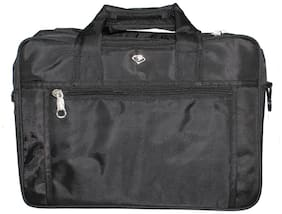 Raj Black PU Laptop Backpack