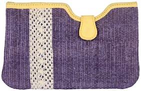 Purple Color Zip Pouch, Cosmetic Pouches, Women Pouch Handbag By Rajrang