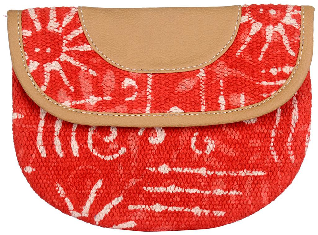 Red Color Zip Pouch, Cosmetic Pouches, Women Pouch Handbag By Rajrang by Raj Rang