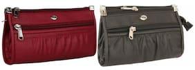 Women Embellished Faux Leather - Clutch Multi