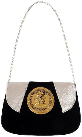 Ratash Women Solid Velvet - Sling Bag Black