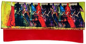 Ratash Women Solid Canvas - Clutch Red