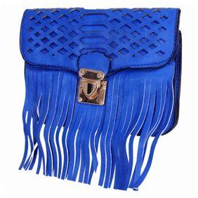 Ratash Women Faux Leather Sling Bag - Blue