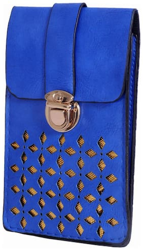 Ratash Women Solid Faux Leather - Sling Bag Blue