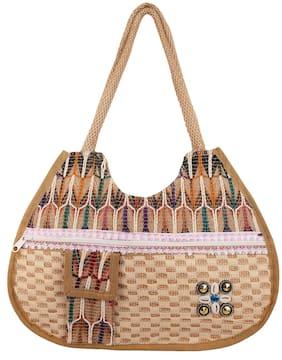 Ratash Brown Jute Handheld Bag