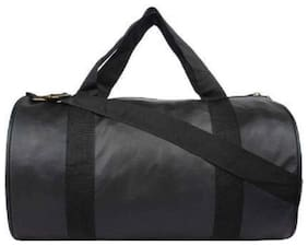 RBB HUB Black Leather Gym Bag