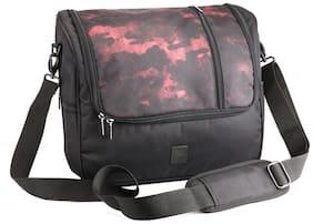 Red Chief Upto 10l Black Canvas Laptop messenger bag