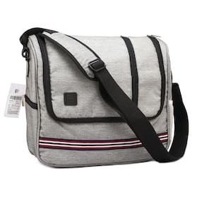 Red Chief Upto 10l Grey Canvas Laptop messenger bag