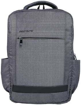 Red Tape Grey Polyester Backpack