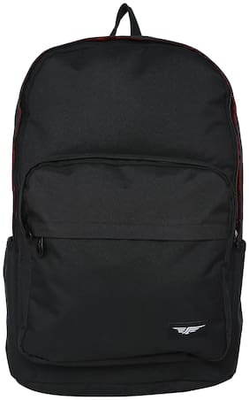 Red Tape Black Polyester Backpack