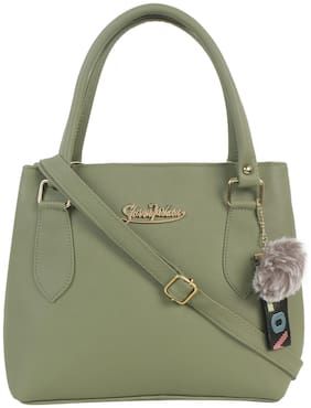 Reena Verma Collection Green PU Solid Sling Bag