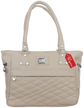 Reprox Grey PU Shoulder Bag - Reprox-HB-B