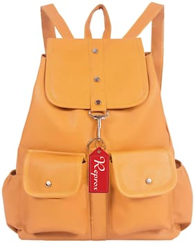 Reprox Yellow Leather Backpack
