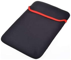 Reversible Black & Red Durable Neoprene Fit Laptop Sleeve for 13.6 HCL Laptop (Black,Red).