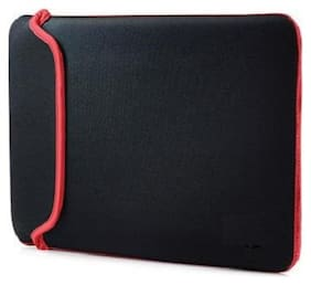 Reversible Black & Red Durable Neoprene Fit Laptop Sleeve for 15 Micromax Laptop (Black,Red).