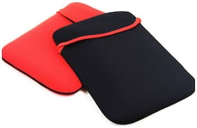 Reversible Black & Red Durable Neoprene Fit Laptop Sleeve for 15 Toshiba Laptop (Black,Red).