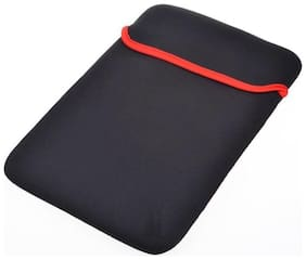 Reversible Black & Red Durable Neoprene Fit Laptop Sleeve for 14.6 Sony Laptop (Black,Red).