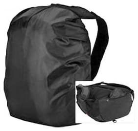 Right traders Backpack-rain-dust-cover Waterproof Laptop Bag Cover Black (Pack-1)