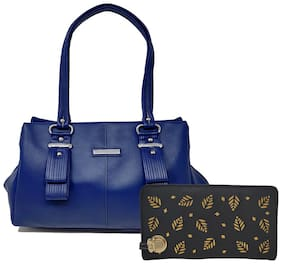 Rish Blue PU Handheld Bag