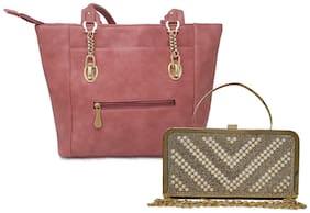 Rish Pink PU Handheld Bag