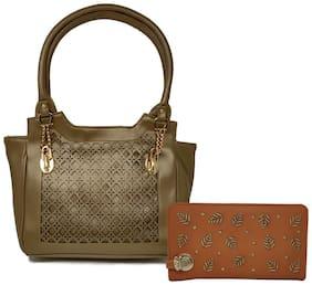 Rish Green PU Handheld Bag