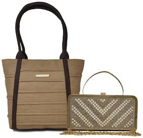 Rish Beige PU Handheld Bag