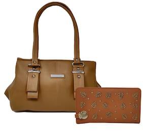 Rish Brown PU Handheld Bag