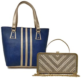 Rish Blue PU Handheld Bag