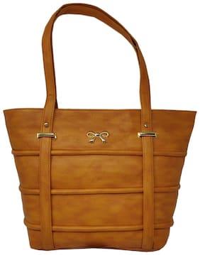 Rish Brown PU Handheld Bag - RHBBOW-ORG154