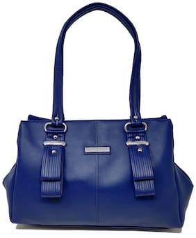 Rish Blue PU Shoulder Bag