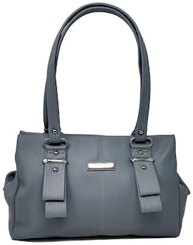 Rish Grey PU Handheld Bag