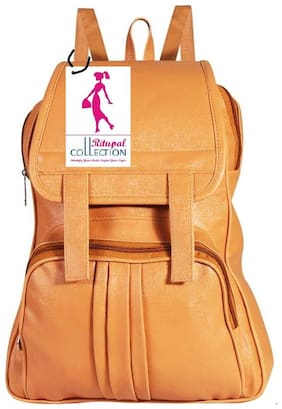 RITUPAL COLLECTION Brown PU Backpack
