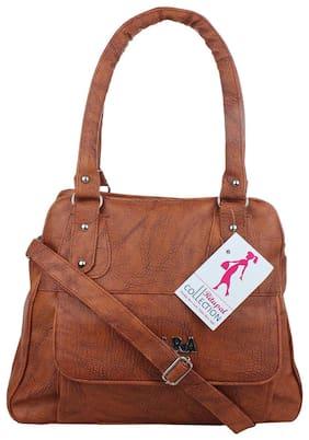 Ritupal Collection Womens Handbag PU (Tan jara) 813b4de0ee409