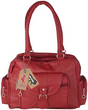 RITUPAL COLLECTION PU Women Handheld Bag - Maroon