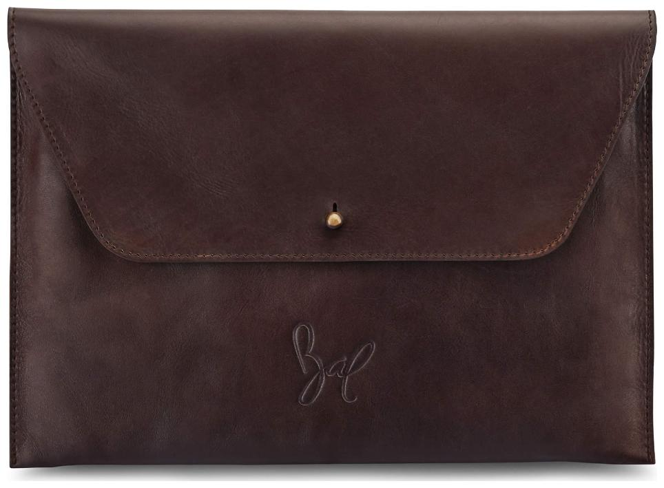 Rohit Bal Tan Brown Leather Small I Pad Sleeve