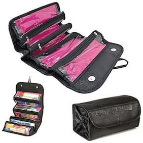 Roll N Go Travel Cosmetic Bag, Easy Roll Up, Brush Lipstick Tube Makeup Tools Toiletry Cosmetic Storage Bag