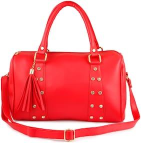 Roseberries Red PU Checked Sling Bag