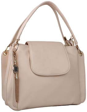 ROSEBERRY Beige PU Solid Sling Bag