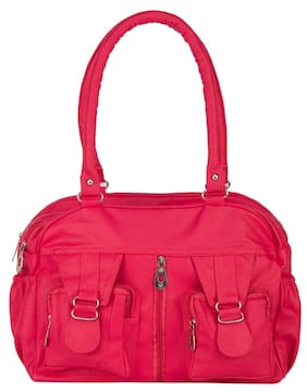 Rosemary Red Faux Leather Handheld Bag