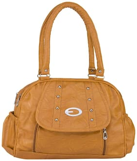 Rosemary Faux Leather Women Handheld Bag - Yellow