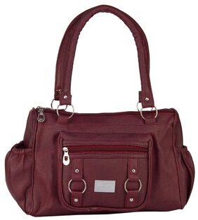 Rosemary Women Faux Leather Handheld Bag - Maroon