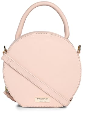 Truffle Collection Women Solid Pu - Sling Bag Pink