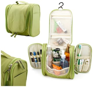 ROYALDEALSHOP 100% MADE OF HIGH QUALITY Hanging Toiletries Kit for Makeup, Cosmetic, Shaving,Toiletry Bag for Men & Women Travel Accessories Organizer(Green)
